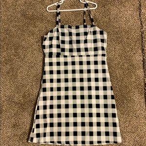 checkered dress size small